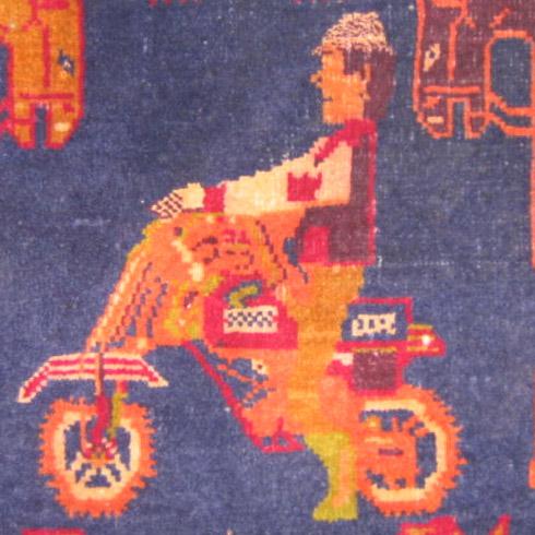 motorcycler rug