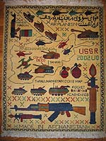 All Yellow Soviet Story Afghan War Rug The Condition Of This New Afghan War  Rug Is Excellent. It Is Densely Woven With Strong Wool.