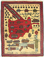 Beautiful Soviet Exodus Yellow Map Afghan War Rug This War Rug Was Made In  The Year 2000 And Is In Perfect Condition. This War Rug Commemorates The  Soviet ...